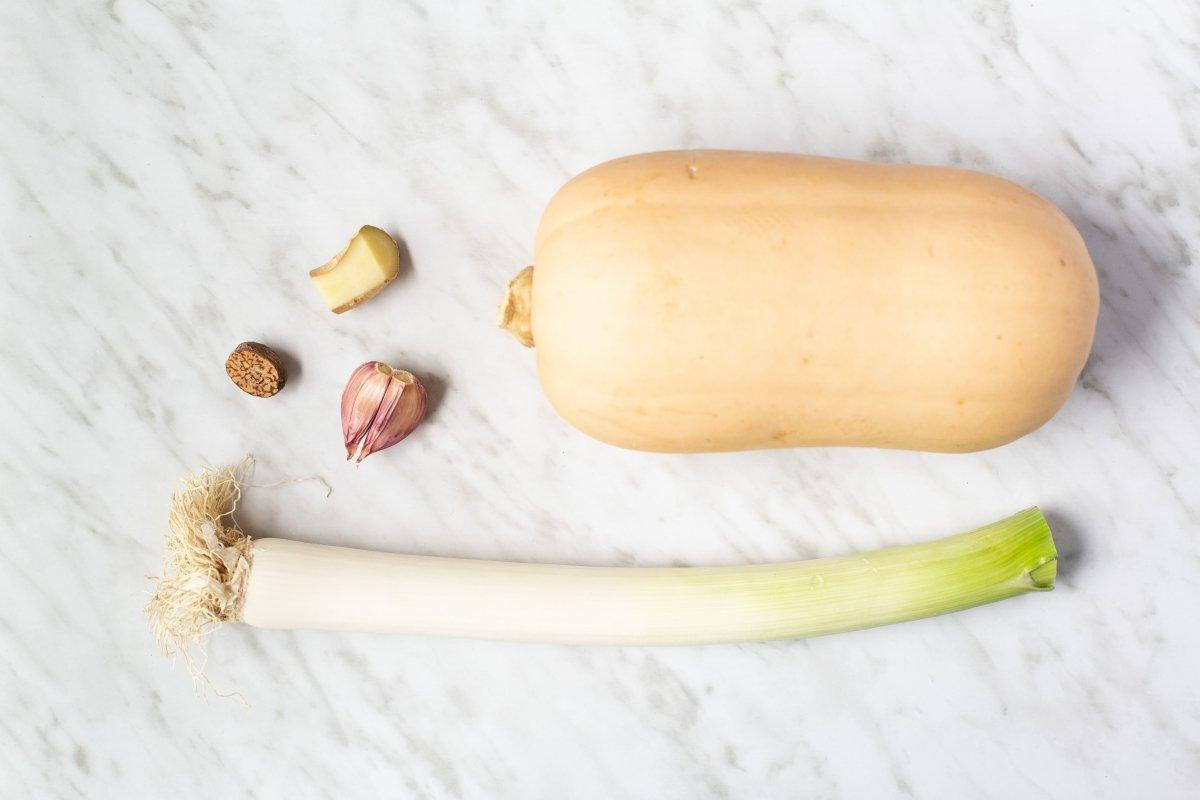 Ingredientes de la sopa de calabaza