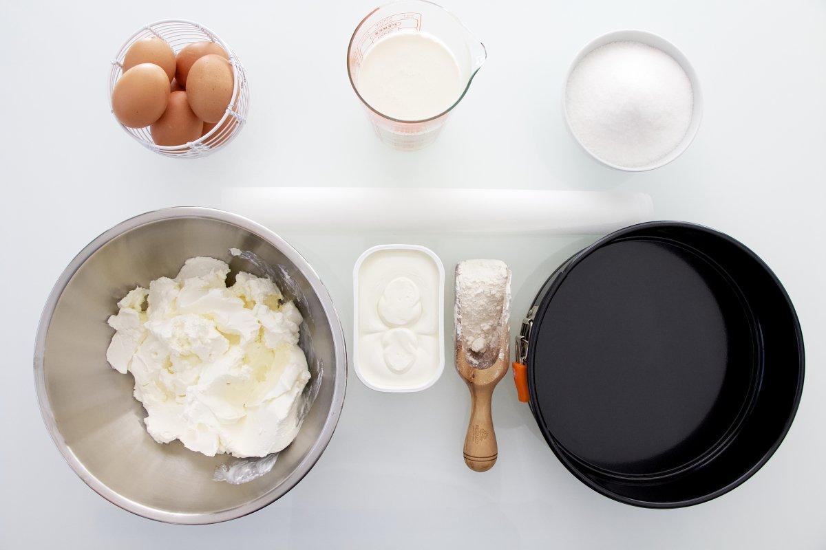 Ingredientes de la tarta de queso de La Viña