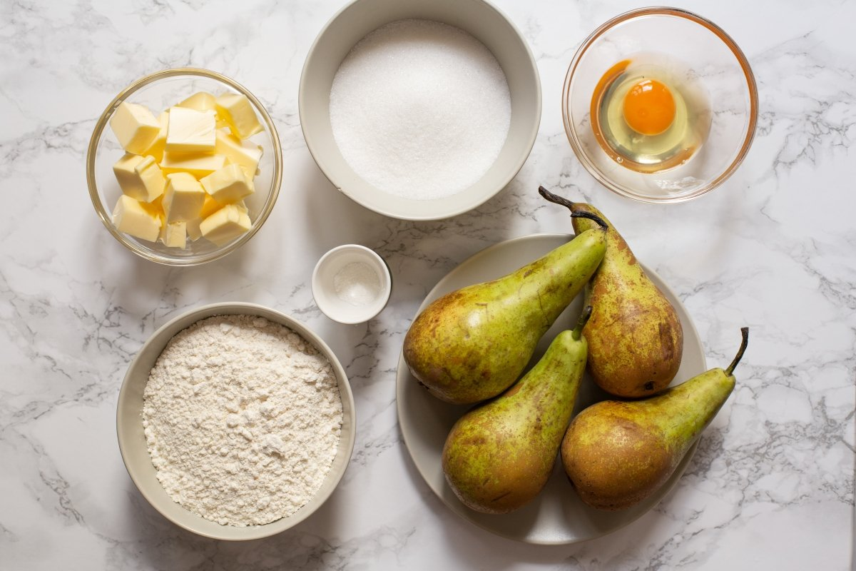 Ingredientes de la tatin de peras