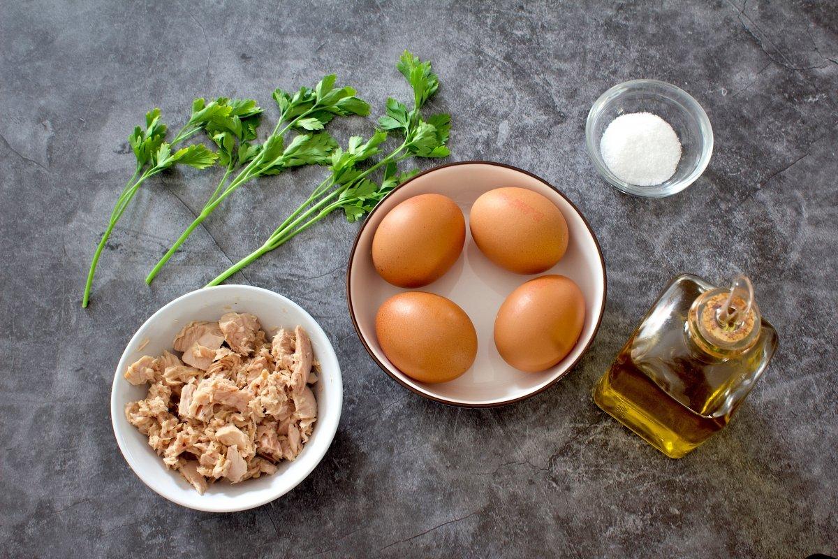 Ingredientes de la tortilla de atún