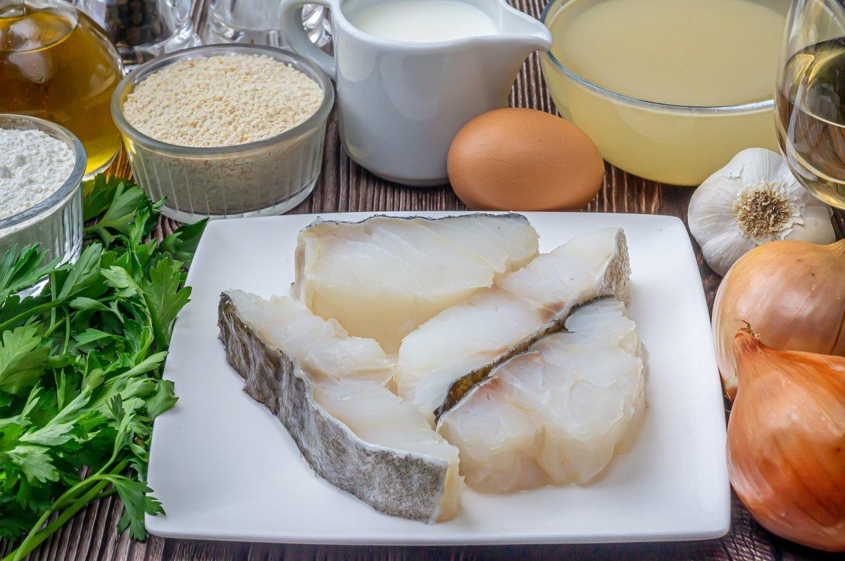 Ingredientes de las albóndigas de bacalao