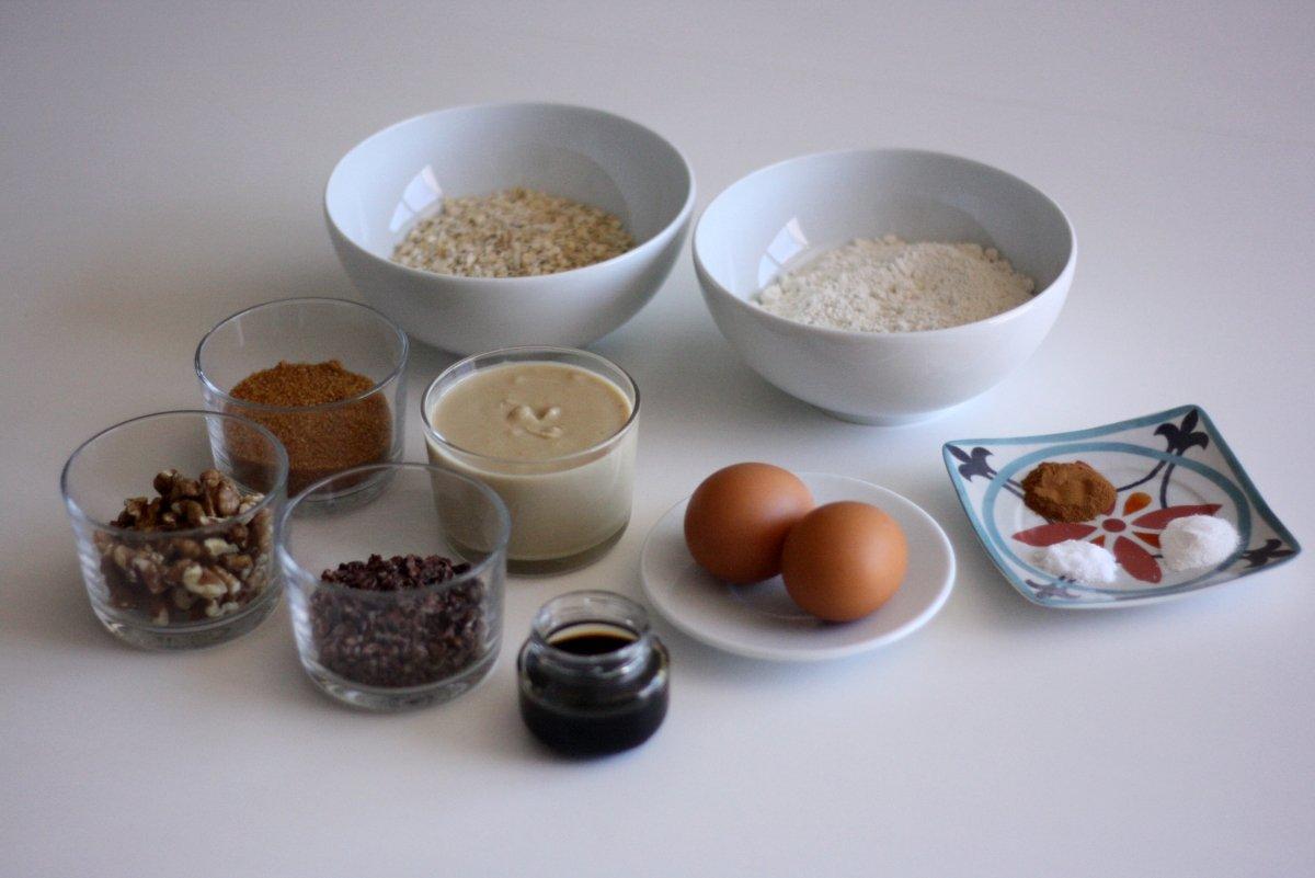 Ingredientes de las cookies de chocolate