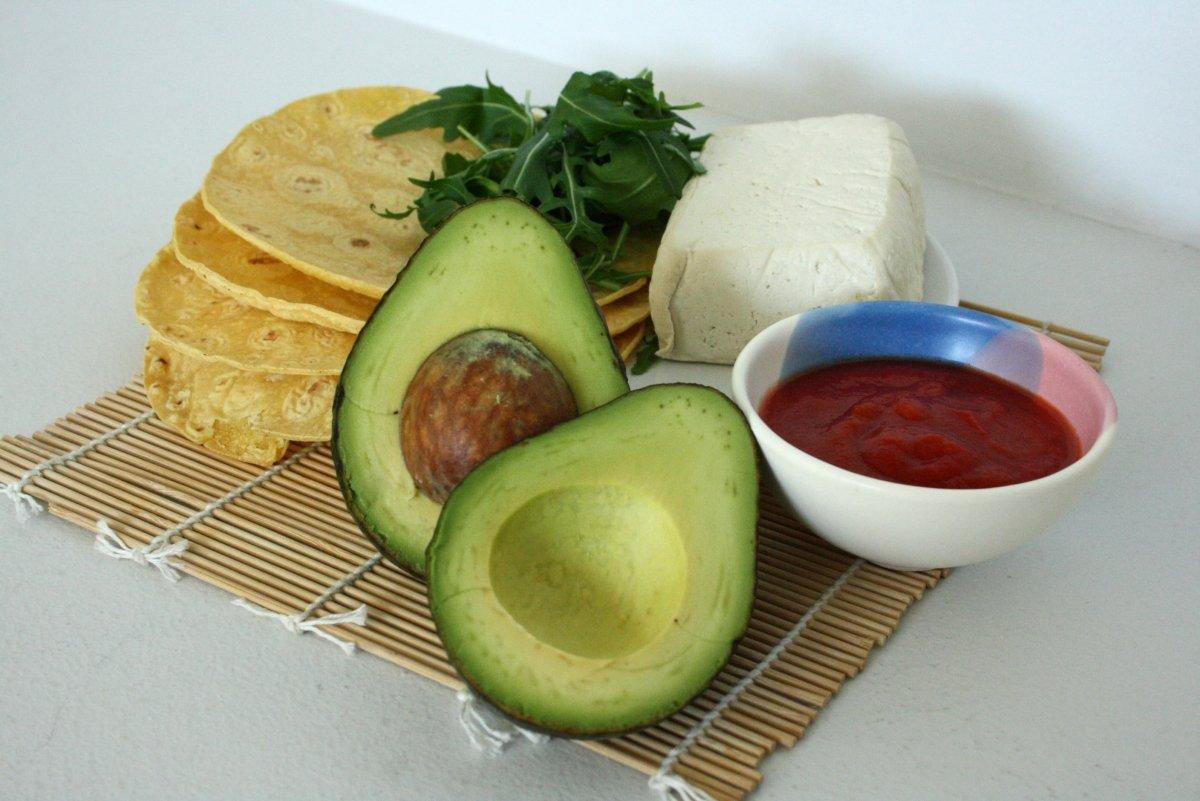 Ingredientes de las fajitas de maíz