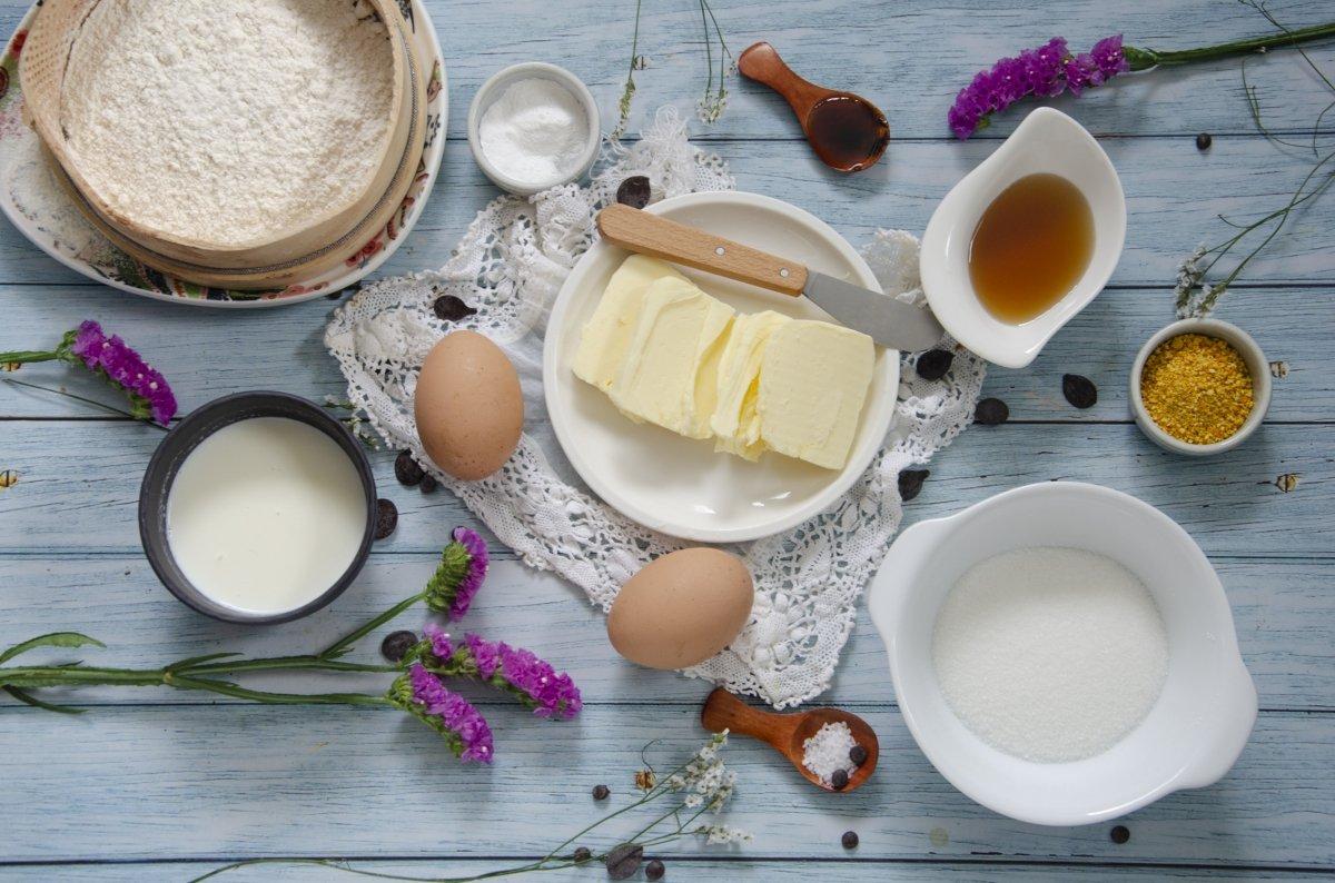 Ingredientes de las madeleins de comercy