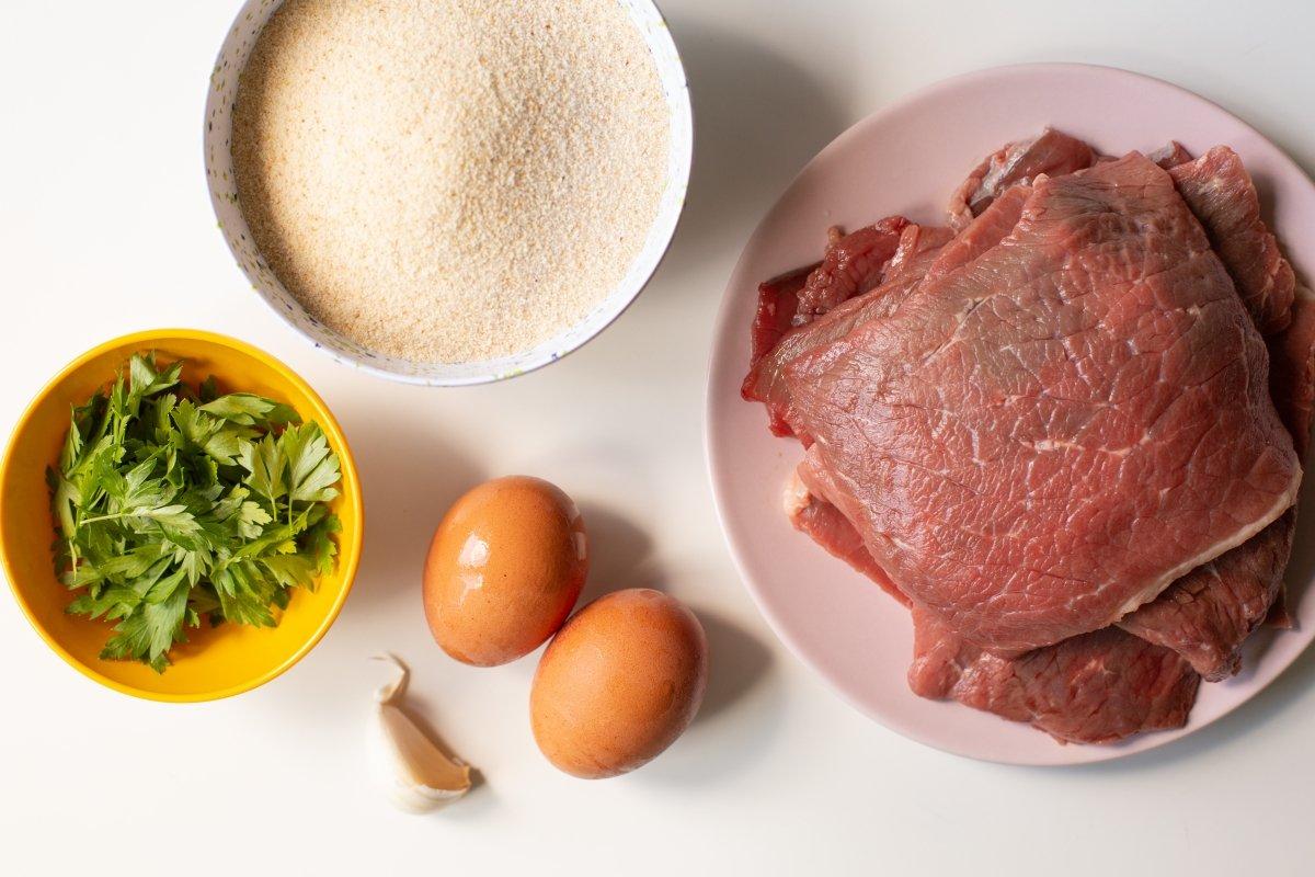 Ingredientes de las milanesas de ternera