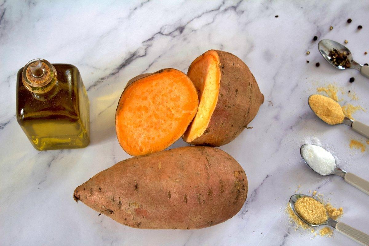 Ingredientes de los bastones de boniato al horno