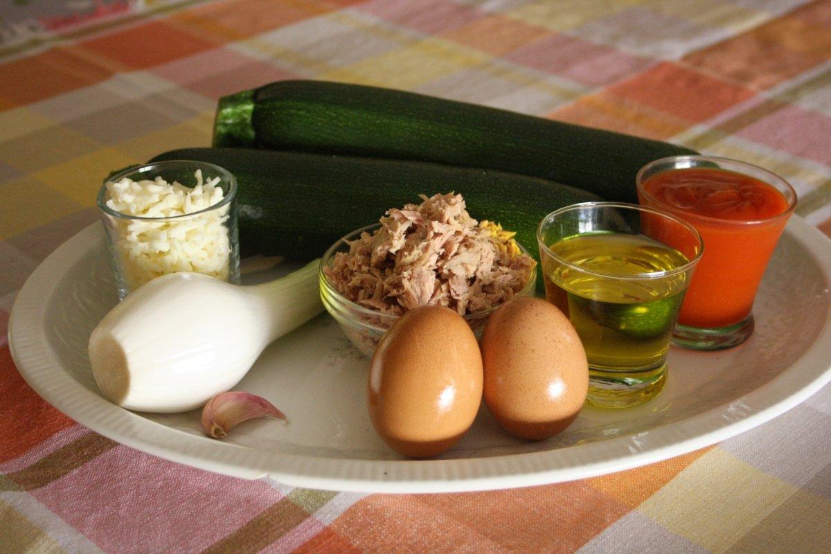 Ingredientes de los calabacines rellenos