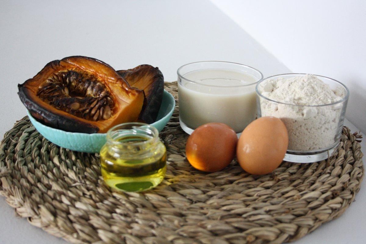 Ingredientes de los gofres de calabaza