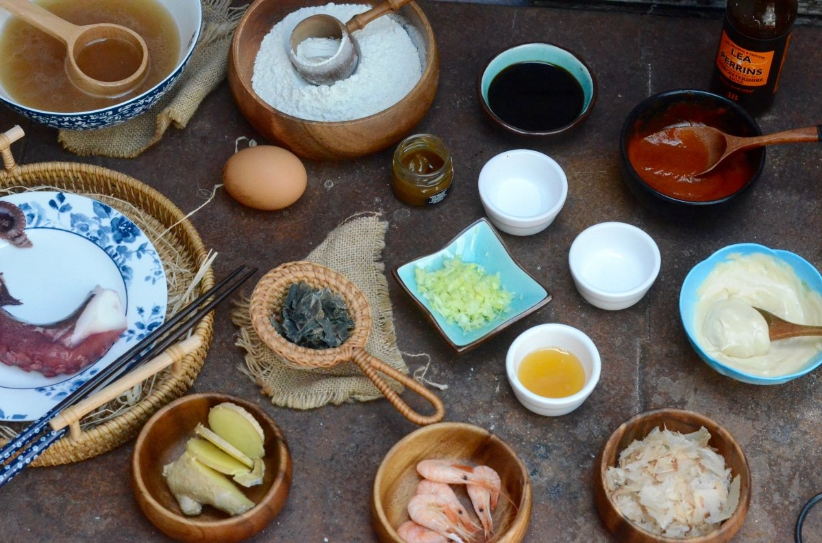 Ingredientes de los takoyaki