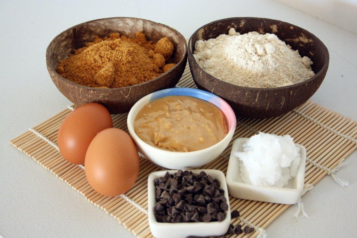 Ingredientes del bizcocho de crema de cacahuete