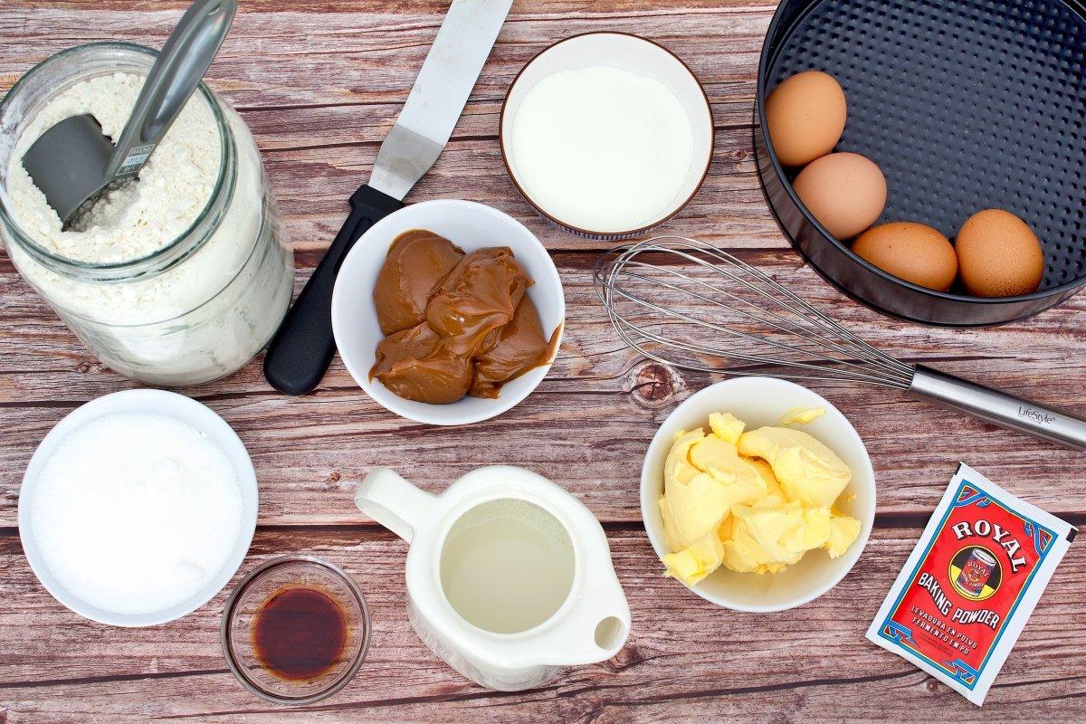 Ingredientes del bizcocho de dulce de leche