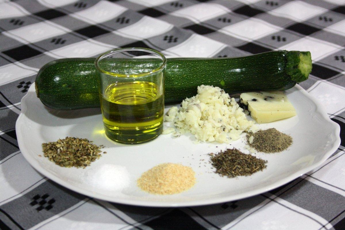 Ingredientes del calabacín al horno