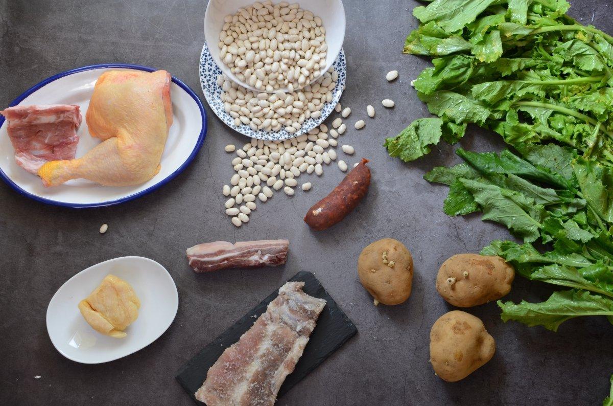Ingredientes del caldo gallego