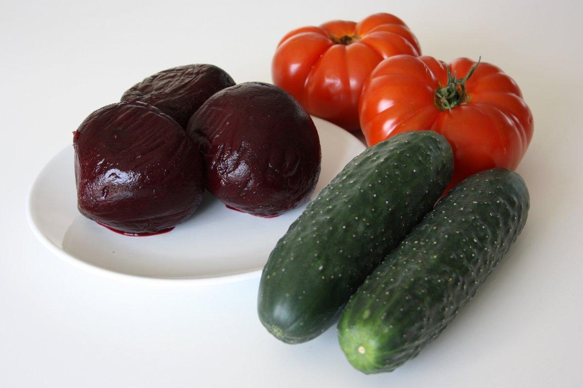 Ingredientes del gazpacho de remolacha