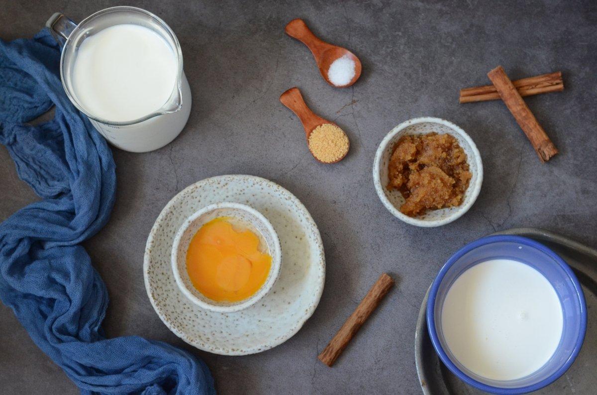 Ingredientes del helado de canela