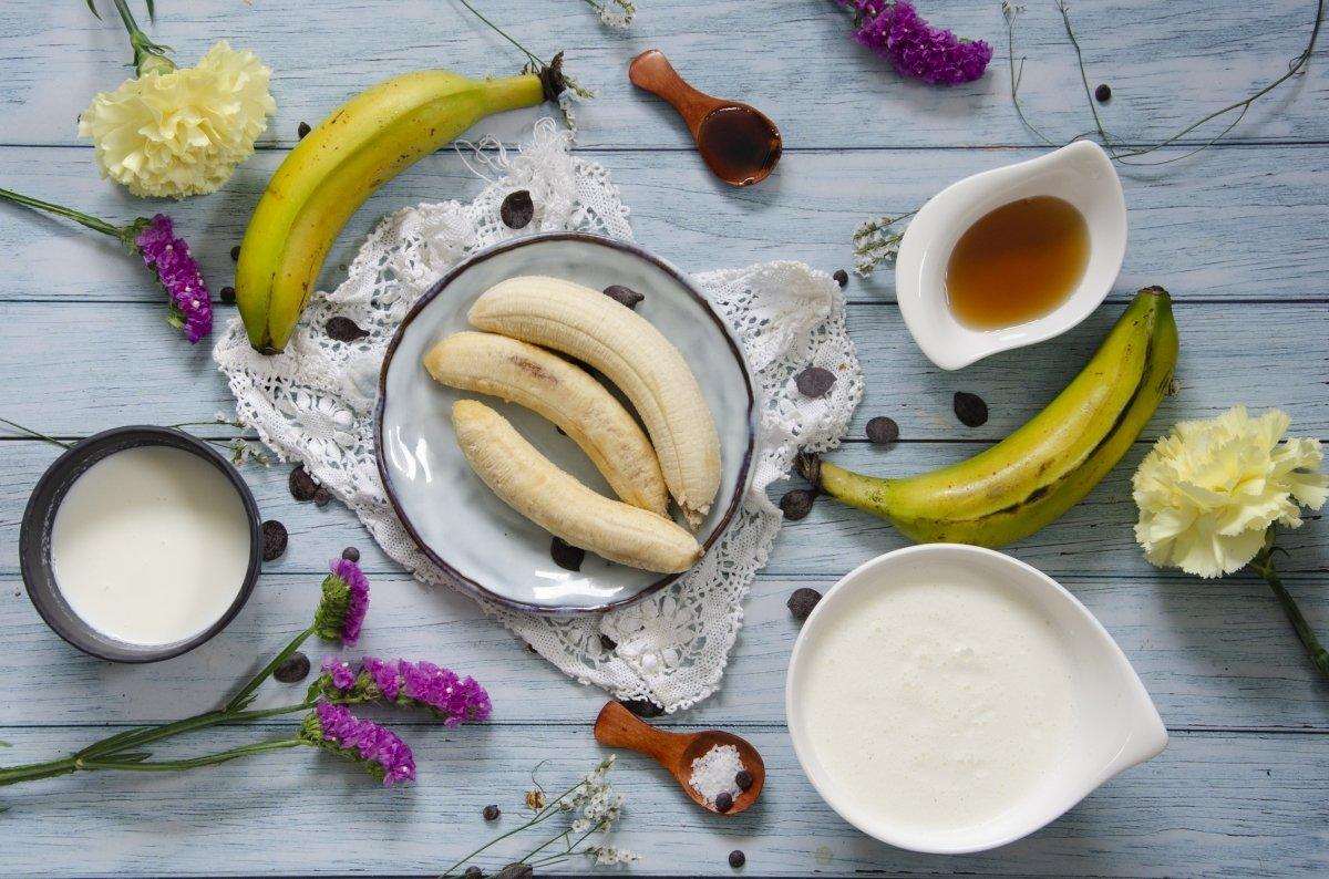 Ingredientes del helado de platano