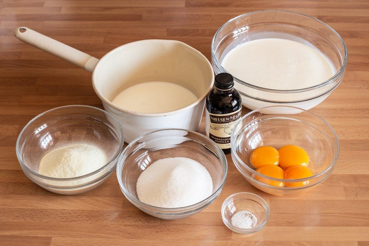 Ingredientes del helado de vainilla