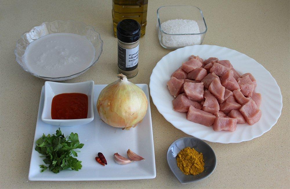 Ingredientes del lomo al curry