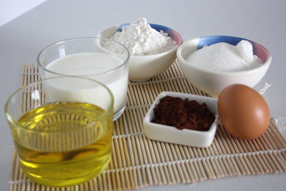 Ingredientes del mug cake de chocolate