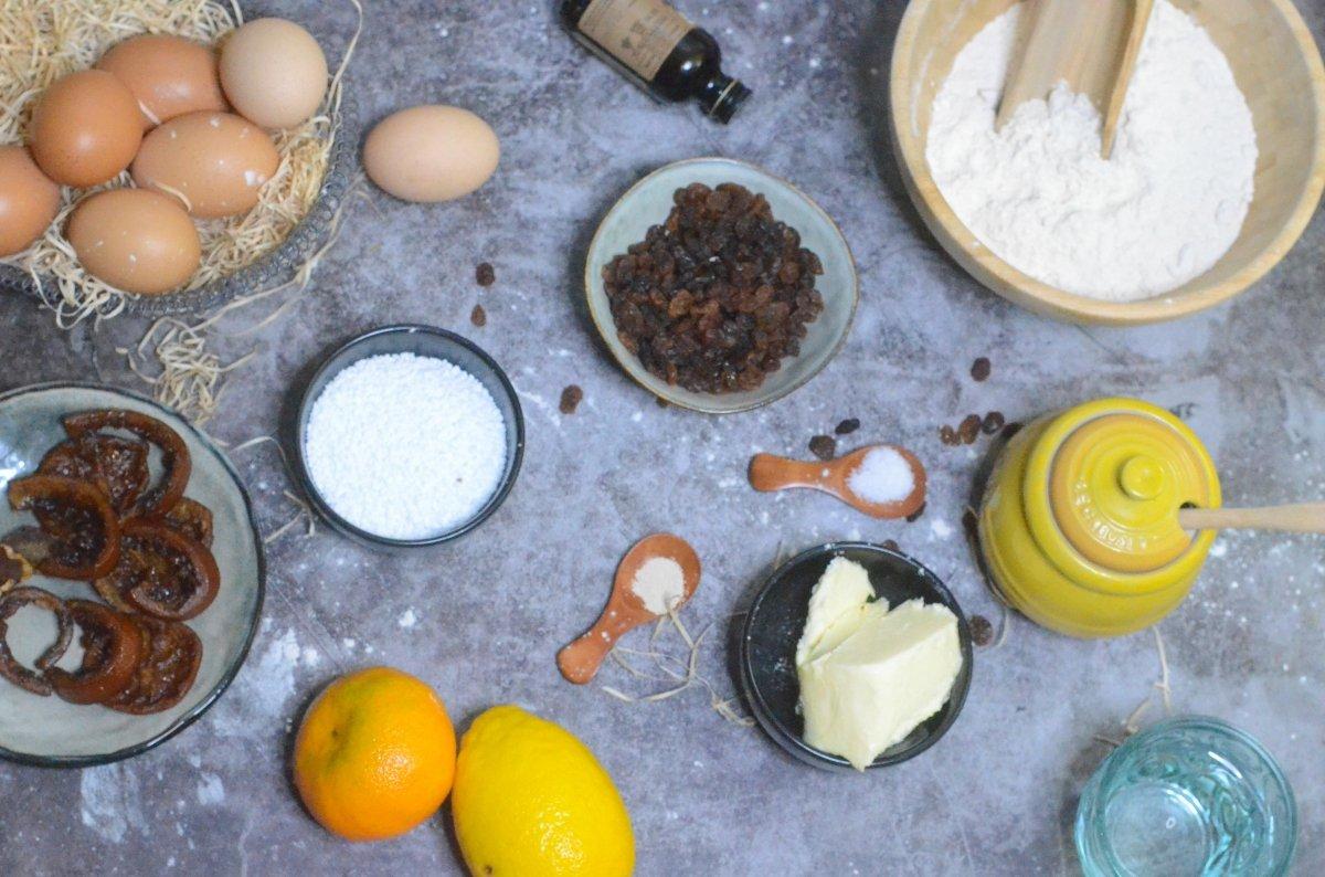 Ingredientes del panettone