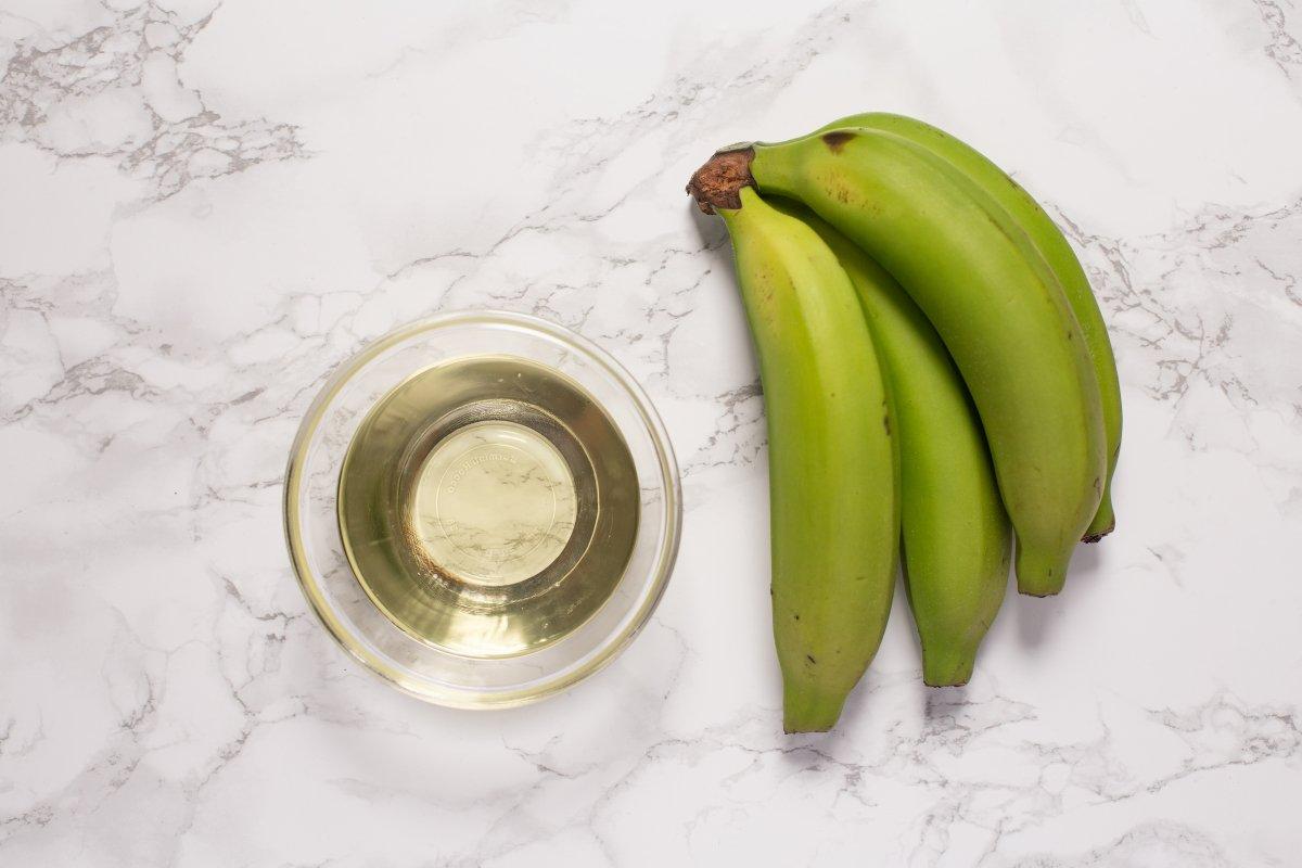 Ingredientes del plátano frito