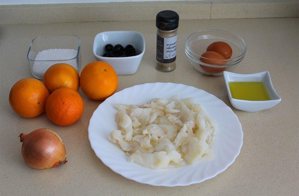 Ingredientes del remojón granadino
