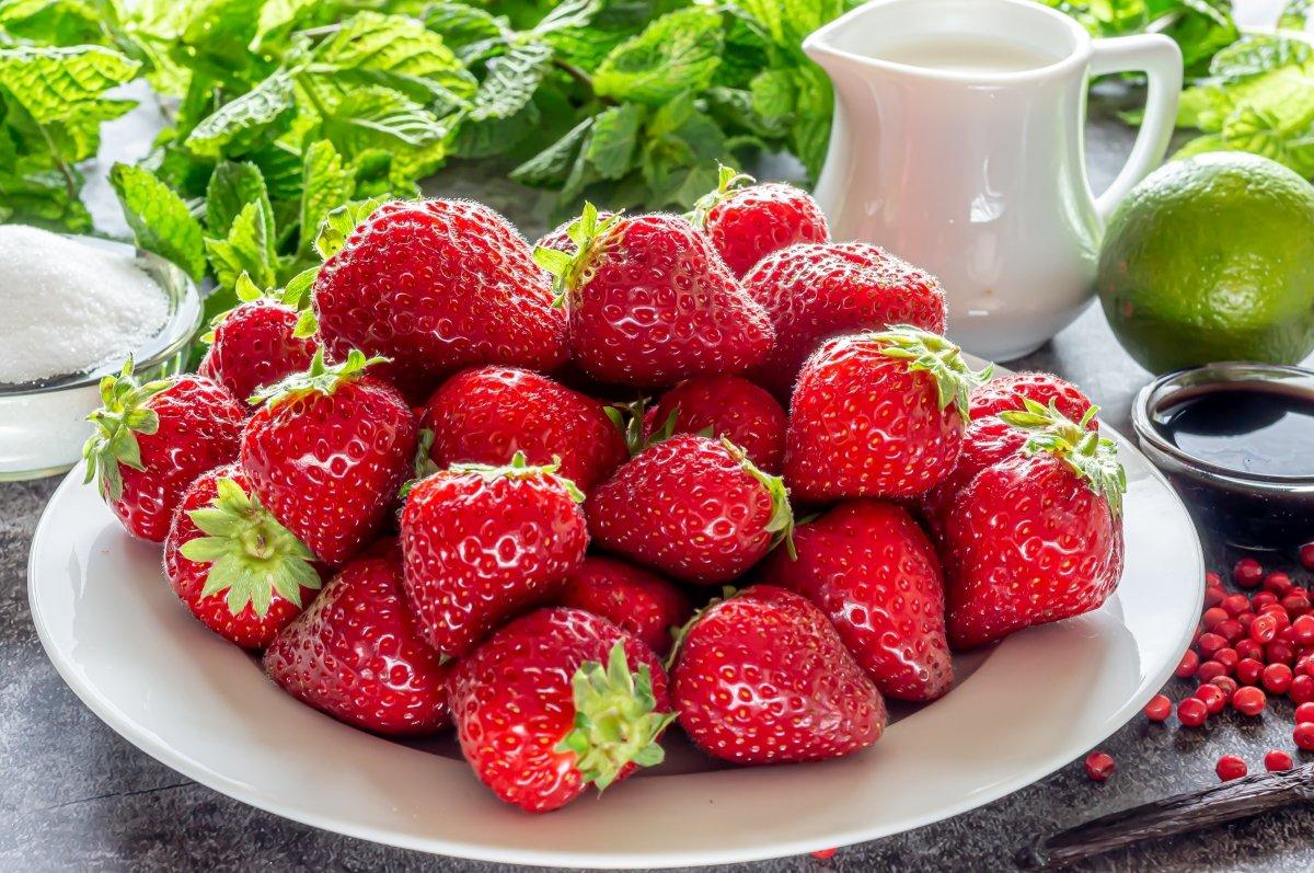 Ingredientes del tartar de fresa