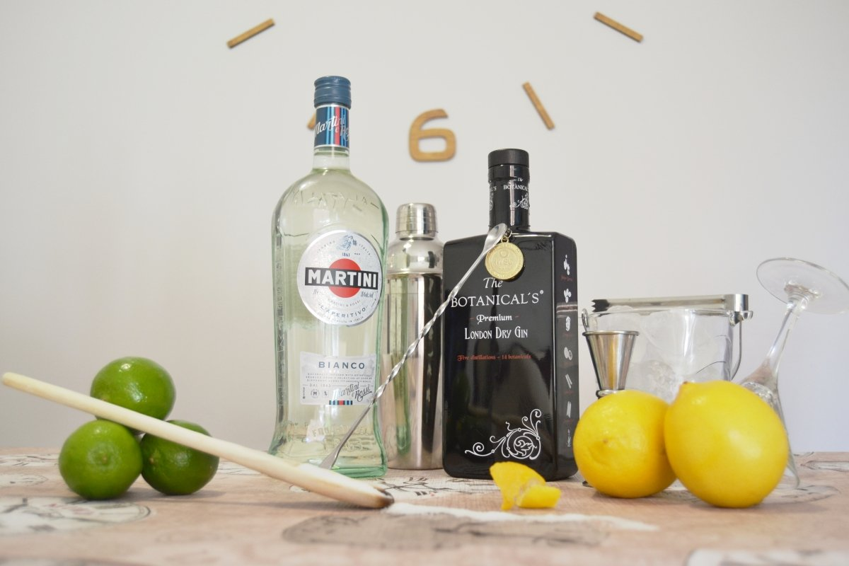 Ingredientes del dry martini