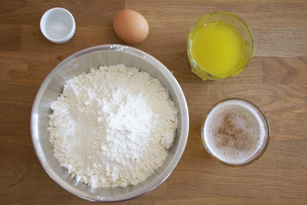 Ingredientes masa empanada