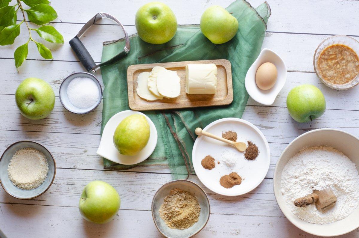 Ingredientes necesarios para hacer el apple pie