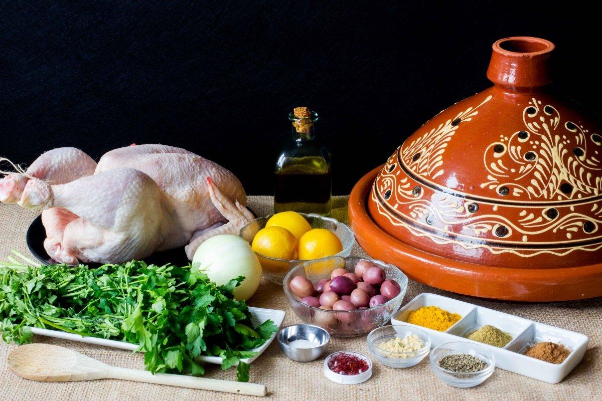 Ingredientes necesarios para hacer el tajín de pollo