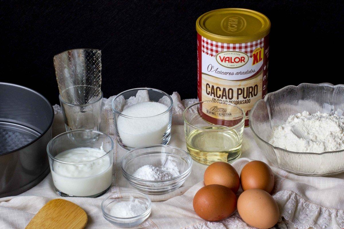Ingredientes necesarios para hacer la tarta de chocolate