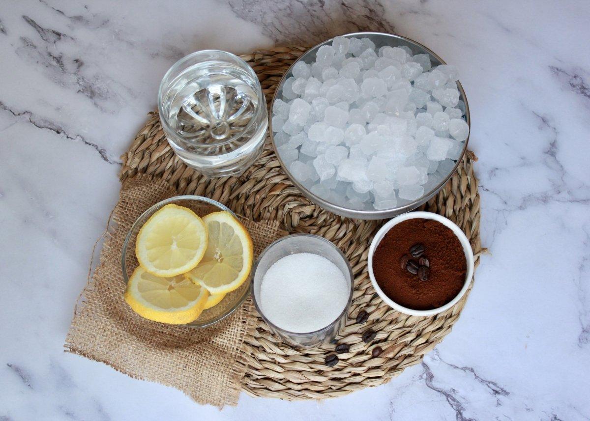 Ingredientes necesarios para realizar un granizado de café