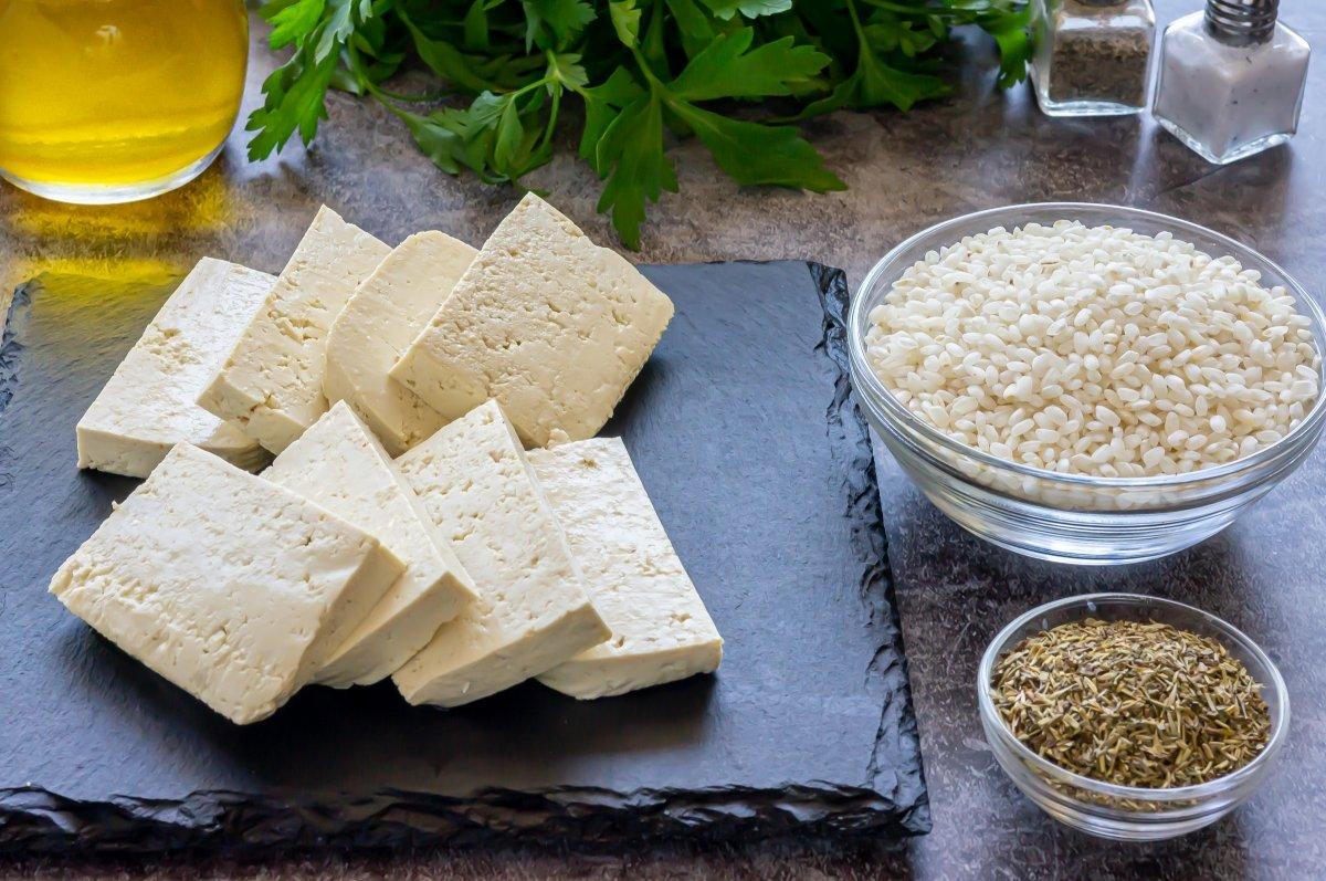 Ingredientes para ahumar tofu