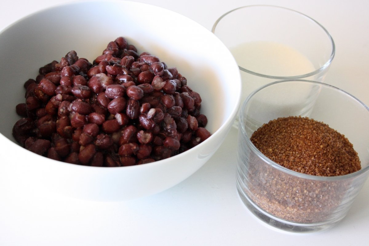 Ingredientes para el anko
