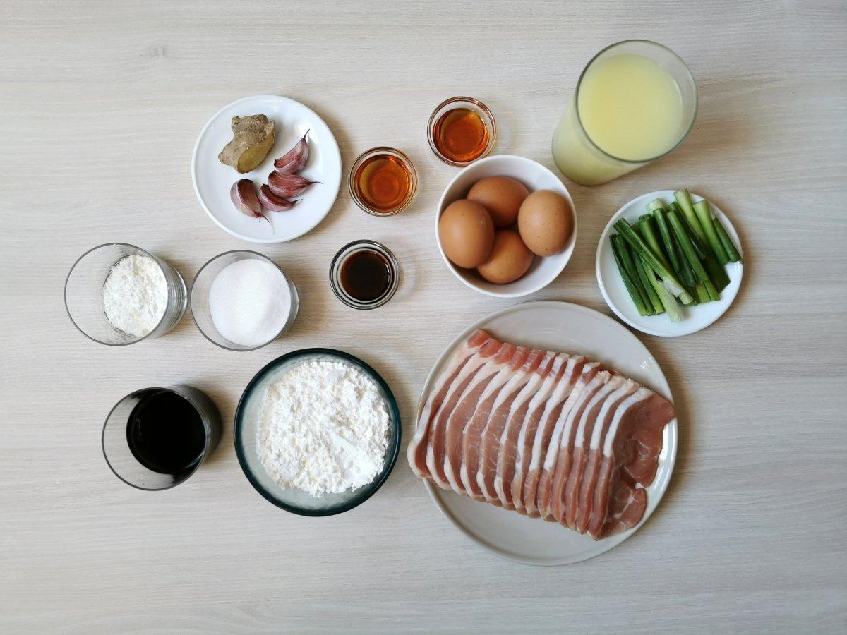 Ingredientes para el cerdo agridulce