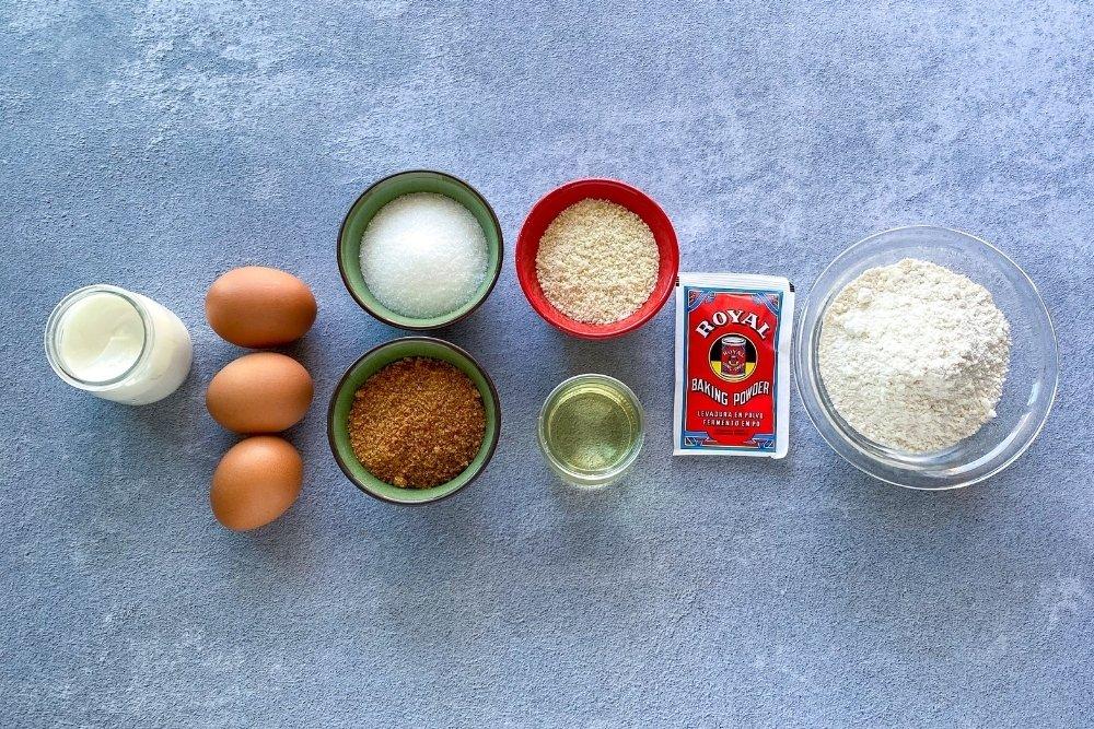 Ingredientes para elaborar bizcocho de almendras