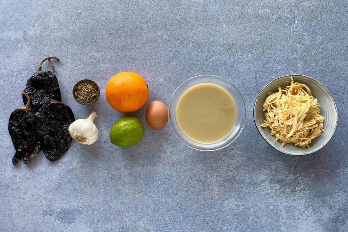 Ingredientes para elaborar chilmole
