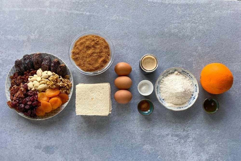 Ingredientes para elaborar Christmas pudding