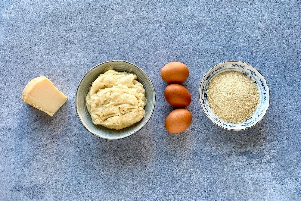 Ingredientes para elaborar croquetas de queso