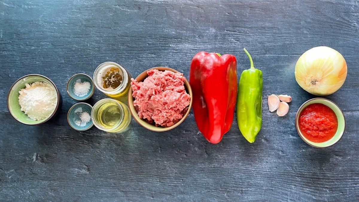 Ingredientes para elaborar empanada de carne picada
