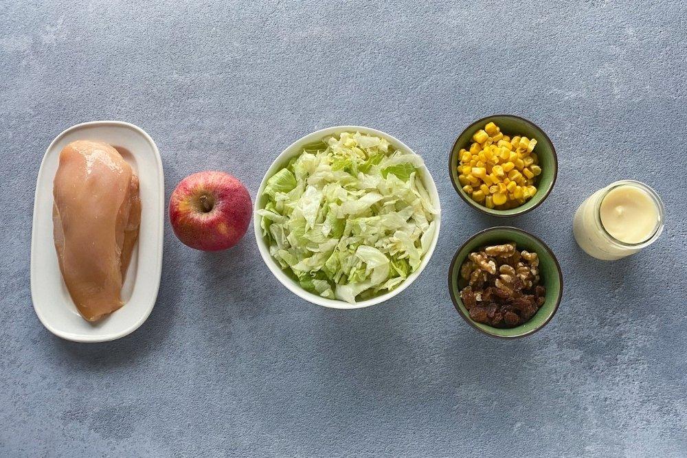 Ingredientes para elaborar ensalada de pollo