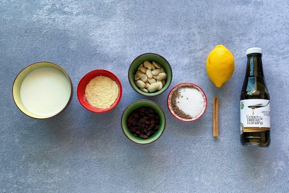 Ingredientes para elaborar frangollo canario