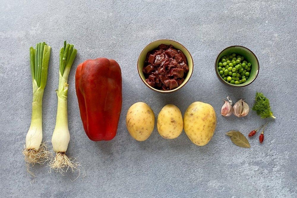 Ingredientes para elaborar frito mallorquín