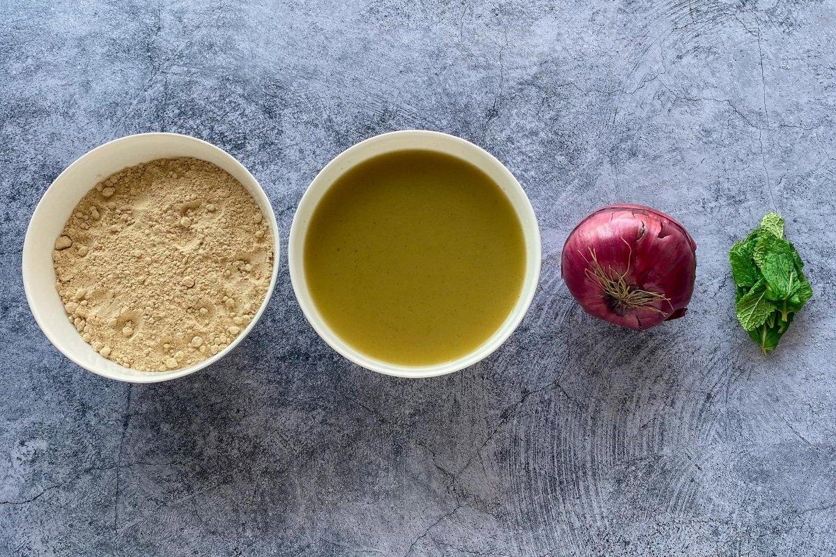 Ingredientes para elaborar gofio escaldado