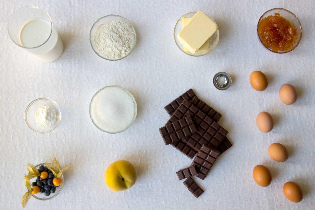 Ingredientes para elaborar la tarta Sacher