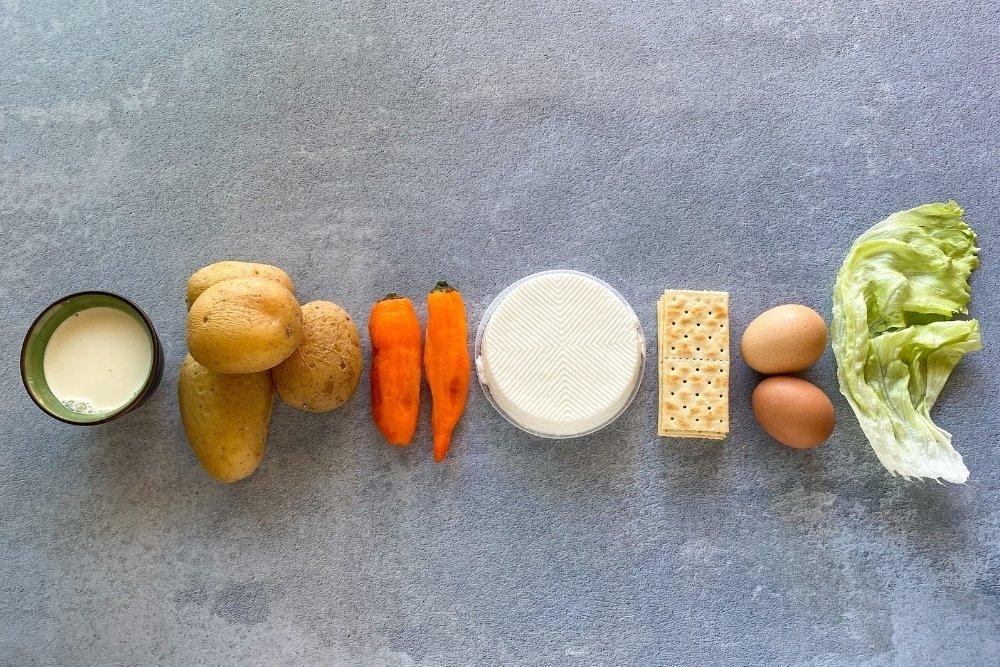 Ingredientes para elaborar papas huncaina
