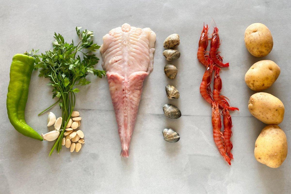 Ingredientes para elaborar suquet de pescado