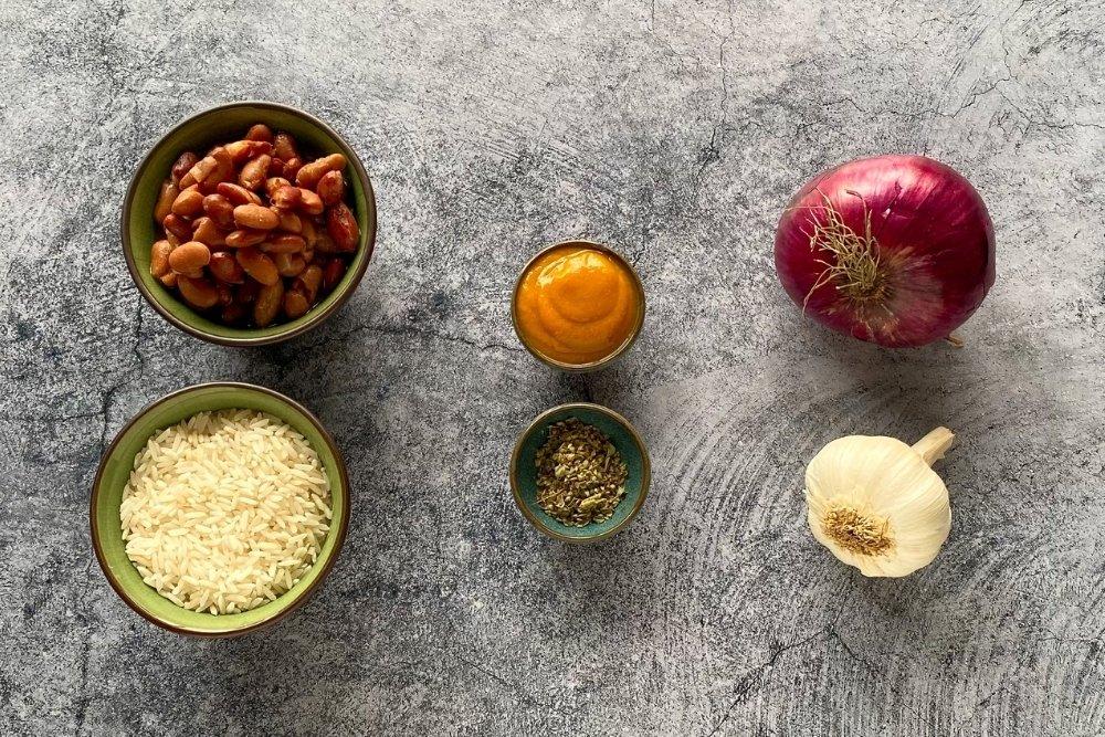 Ingredientes para elaborar tacu tacu