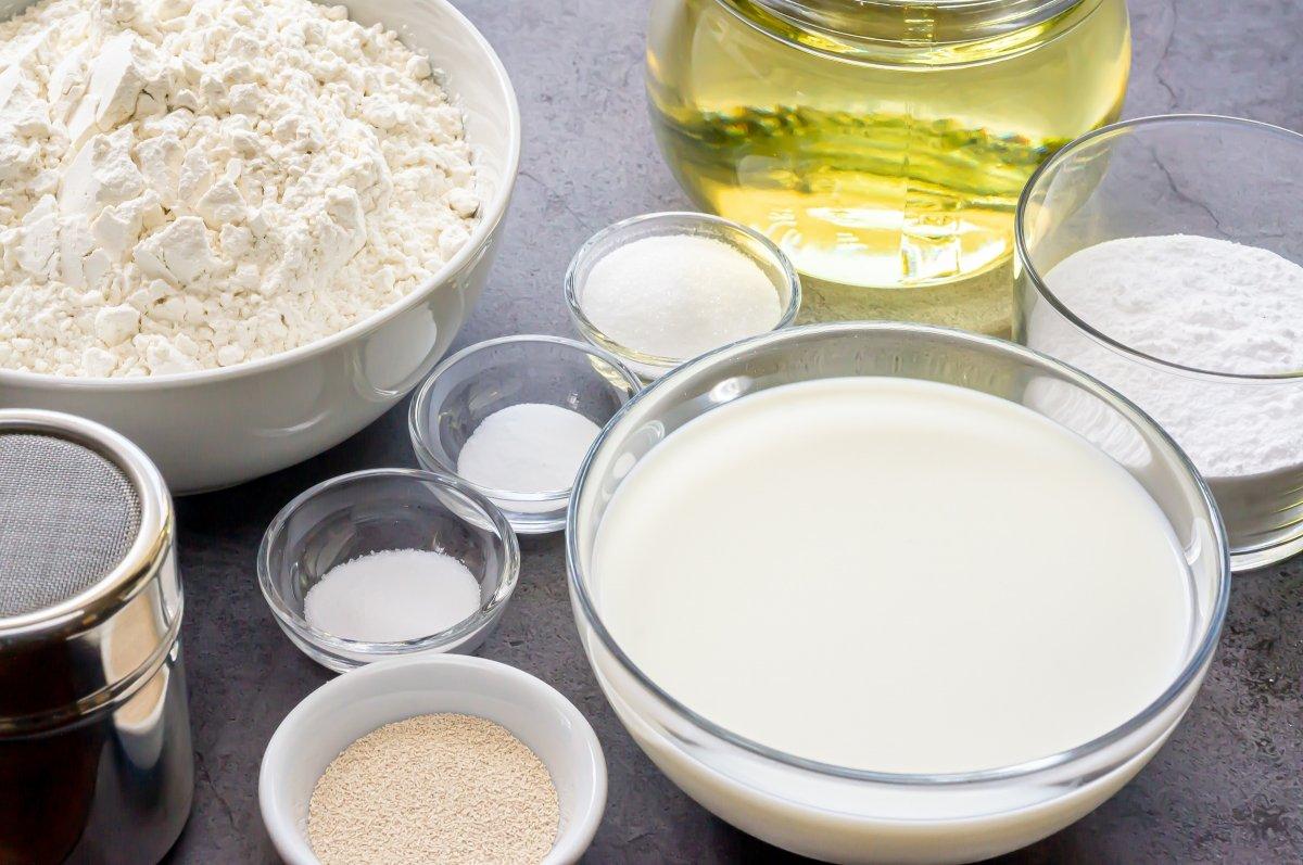 Ingredientes para hacer beignets